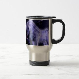 Abstract Fantasy Puple Fairy Unicorn Coffee Mug