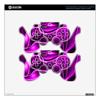 abstract fantasy, purple skin for PS3 controller