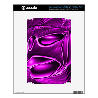 abstract fantasy, purple decal for NOOK