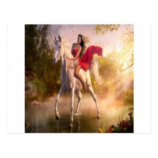 Abstract Fantasy Real Garden Of Eden Post Card