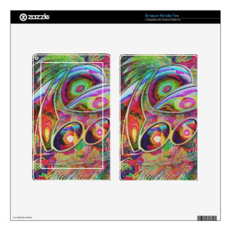 abstract fantasy, kindle fire decals