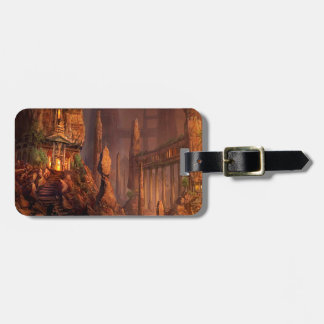 Abstract Fantasy Temple Of Fire Luggage Tags