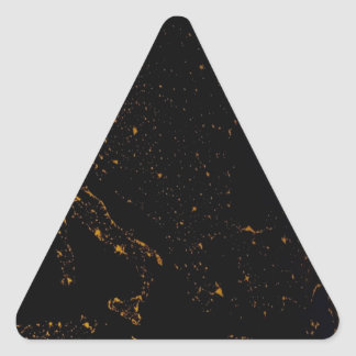 Abstract Fantasy The Red Planet Triangle Sticker