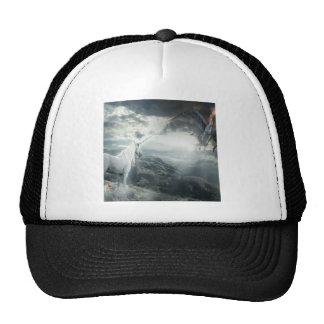 Abstract Fantasy Unicorns Light Vs Dark Trucker Hat