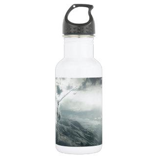 Abstract Fantasy Unicorns Light Vs Dark Stainless Steel Water Bottle