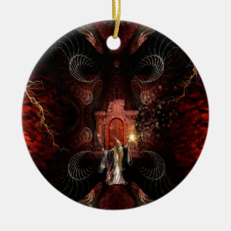 Abstract Fantasy Wizard Unleashed Ceramic Ornament