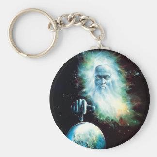 Abstract Fantasy Zeus Watches World Keychain