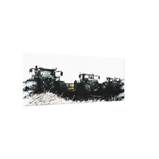 Abstract Farm Tractors Gallery Wrapped canvas