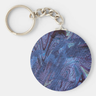 abstract fascination blue key chains