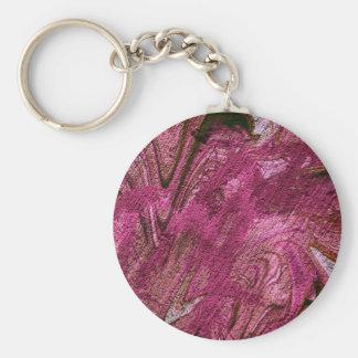 abstract fascination fuchsia keychain