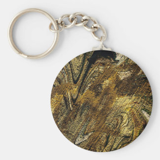 abstract fascination olive keychain
