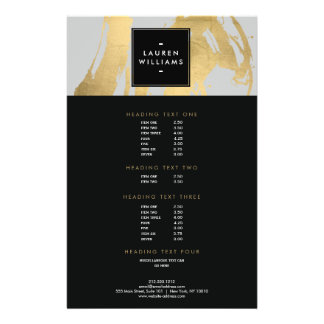 Abstract Faux Gold Brushstrokes on Gray Flyer
