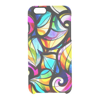 Abstract Faux Stained Glass Illusion Clear iPhone 6/6S Case