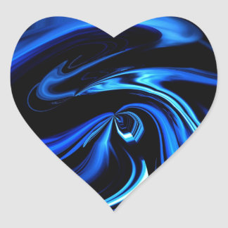 Abstract Feeding The Blue Whale Heart Sticker