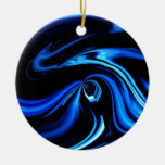 Abstract Feeding The Blue Whale Christmas Ornaments