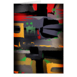 Abstract feel 2011 greeting cards