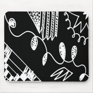 Abstract Felt Pen Drawing Mouse Pad