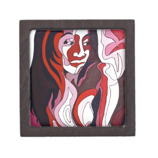 Abstract Female 2 Keepsake Box