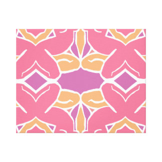 Abstract Female Form Tessellation Canvas Print