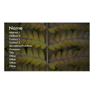 Abstract Fern detail Business Cards