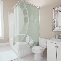 Abstract Fern Frond - Neutral - Shower Curtain