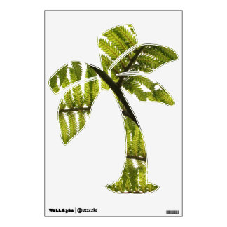 Abstract fern wall decal
