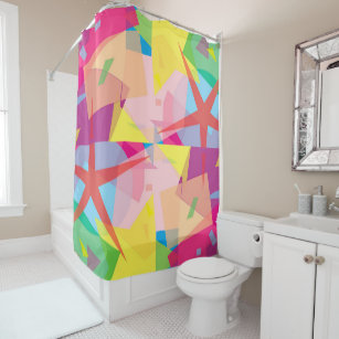 Abstract Fiesta Shower Curtain