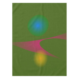 Abstract Figures Green Pond Tablecloth
