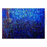 Abstract Fine Art Blue Lighthouse Painting Cards