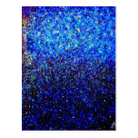 Abstract Fine Art Blue Lighthouse Painting Postcard