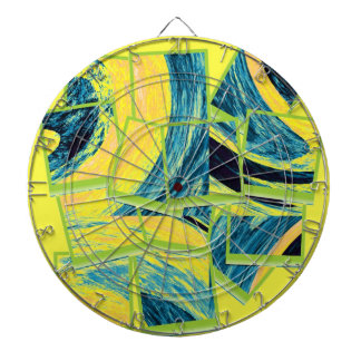 Abstract fine art painting 3 dart board