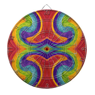 Abstract fine art painting 5 dart boards
