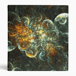 Abstract Fire 3 Ring Binder