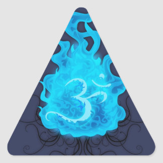 Abstract Fire Blue Flame Triangle Sticker