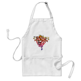 Abstract Fire Breathing Tribal Dragon Adult Apron