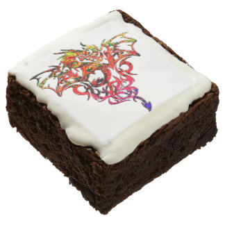 Abstract Fire Breathing Tribal Dragon Brownie