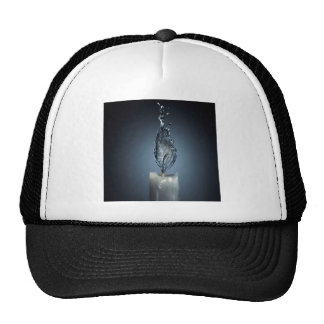 Abstract Fire Candle Water Splash Trucker Hat