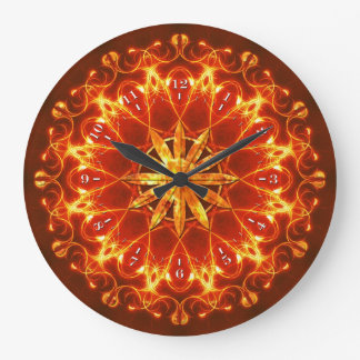 Abstract Fire Clock