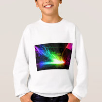 Abstract Fire Color Match Sweatshirt