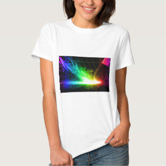 Abstract Fire Color Match Tee Shirt
