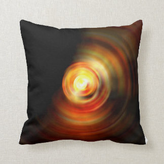 Abstract Fire Drop Throw Pillow