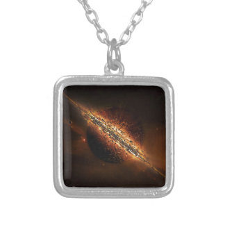 Abstract Fire Explosion Galactic Pendants