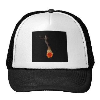 Abstract Fire Human Smoker Mesh Hat
