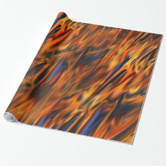 Abstract Fire & Ice Wrapping Paper