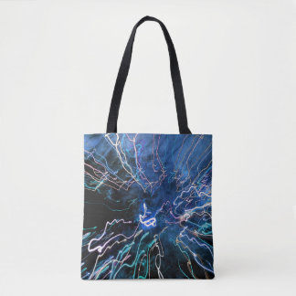 Abstract Fire in Blue Colors Tote Bag