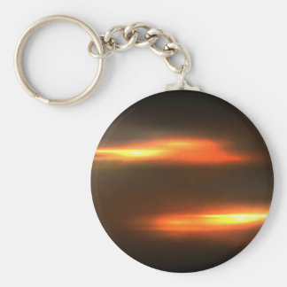 Abstract Fire Keychain