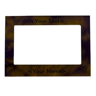 Abstract Fire Magnetic Picture Frame