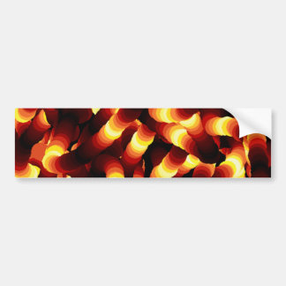 Abstract Firelight Glow Worm Bumper Sticker