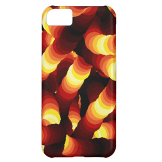 Abstract Firelight Glow Worm Cover For iPhone 5C