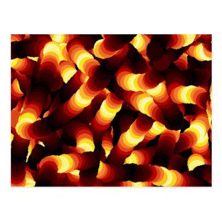 Abstract Firelight Glow Worm Postcard